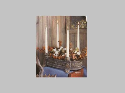 20″ Leaf Candleholder Centerpiece