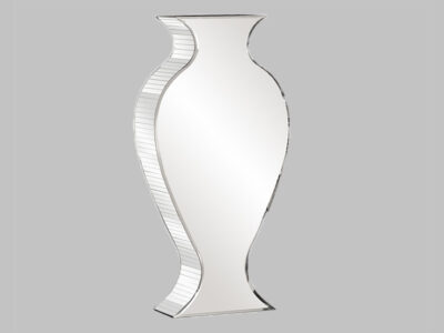 Rounded Mirrored Vase Tall