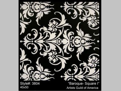 Litografia Baroque Square I