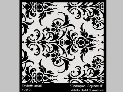 Litografia Baroque Square II