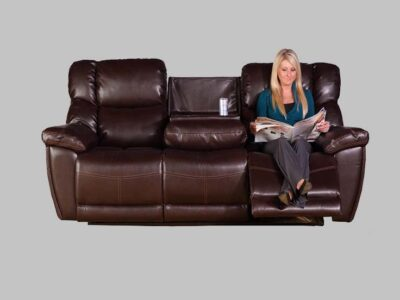 Sofa Reclinable Jupiter Piel Café