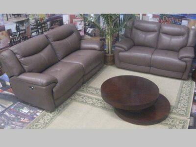 Sofa Reclinable de Piel Milan Tan