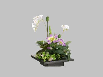 Arreglo Floral Clematis Freesia Morado