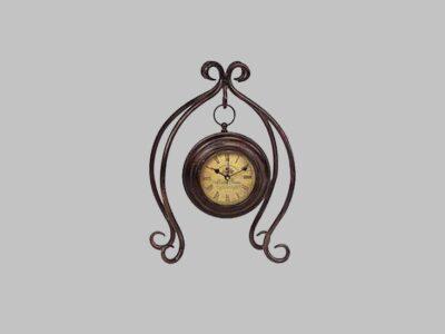 Iron Hanging Clock W/Stand