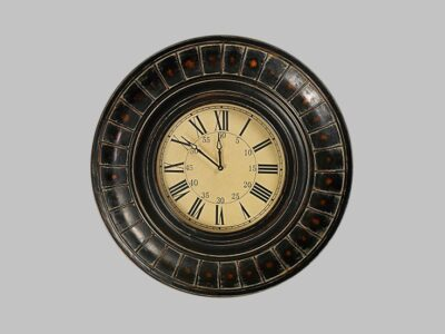 Reloj Antique Bronze Frame W/ Beige