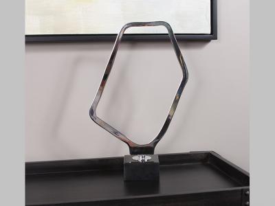 Chrome Geometric Sculpture