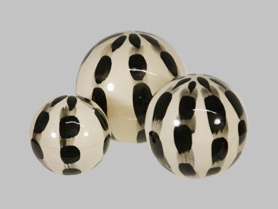 Ceramic painted orbs set/3